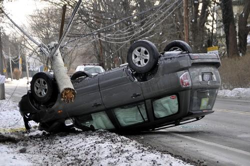 Jeep and pole