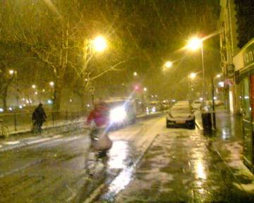 The Pavement, lone cyclist
