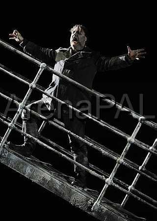 Bryn walks the drawbridge