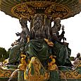 Classical figures in the fountain