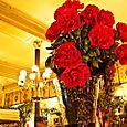 Flowers in restaurant