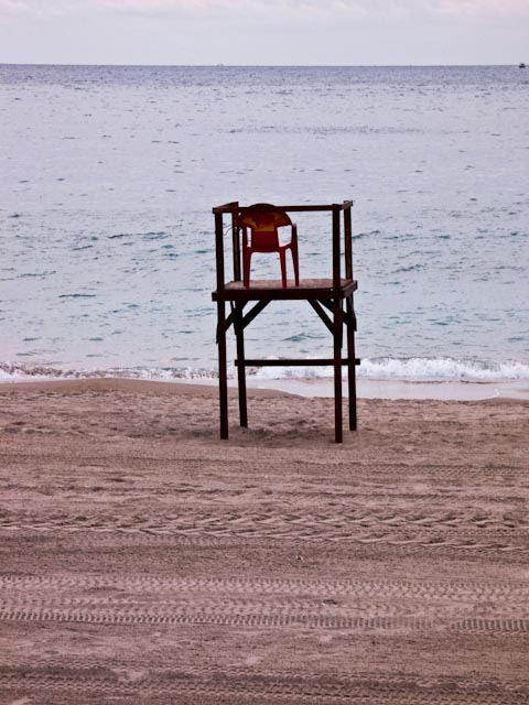 Lifeguards' chairs