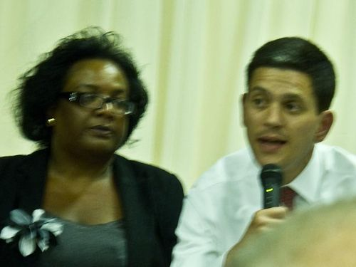 Diane Abbott and David Miliband