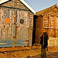 Weather-beaten huts