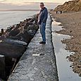 Jimmy on the sea wall