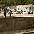 Walking on the seawall