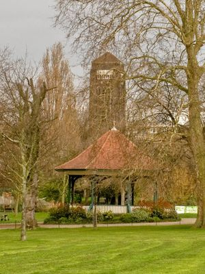 Bandstand and Hospital Tower