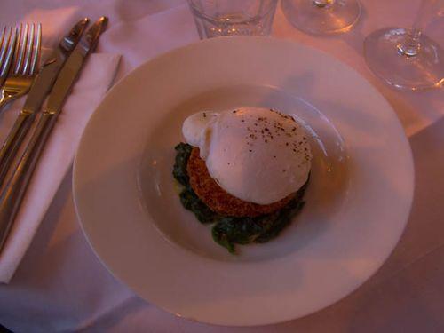 Fishcake and egg