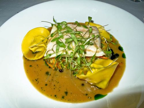 Halibut  crab tortellini