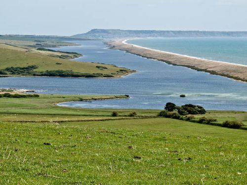 Fleet lagoon and Chesil beach
