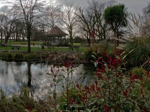 Pond and bandstand