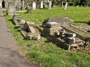 Vandalised graves