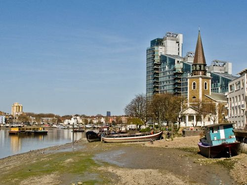The beach at Battersea
