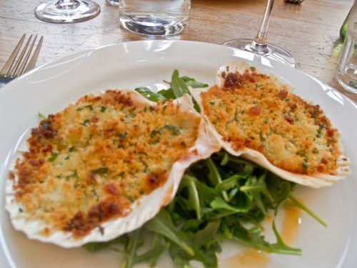 Baked Cornish Scallops