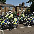 Police motorbikes
