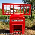 Telephone box sculpture