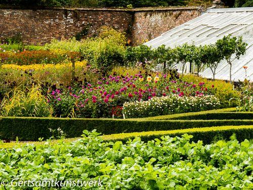 Long view of flower garden