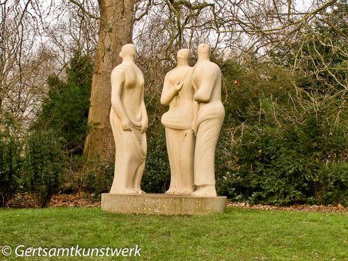 3 standing figures moore