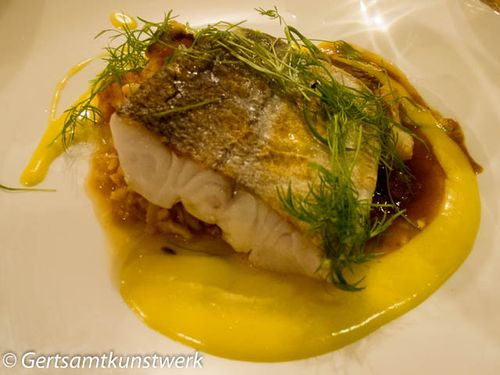 Hake and risotto