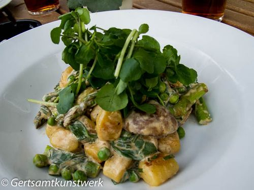 Asparagus gnocchi