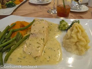 Fish and steamed veg