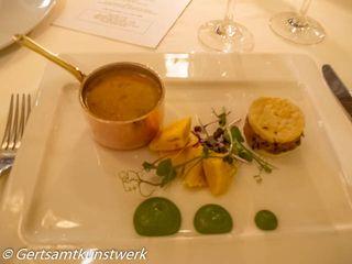 South Indian Dopiaza Uttapam Lasagne, Idli Lentil Sambhar and Coconut Chutney