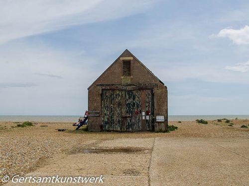Abandoned lifeboat house