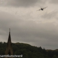 Plane and steeple