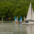 Yacht and dinghies