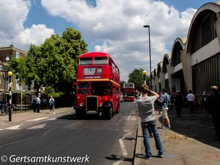 Routemaster outside Stockwell Garage