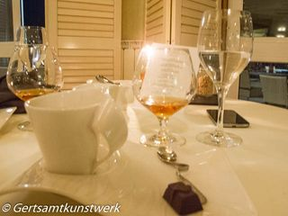 Calvados, coffee and truffles