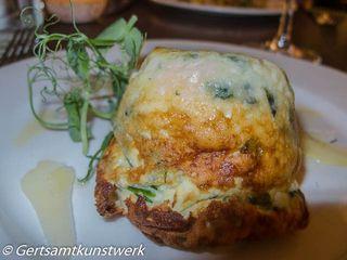 Goats cheese souffle