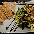 Crab sandwich - and salad
