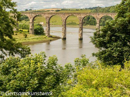Bridge and hills