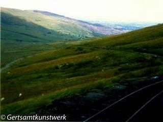 View from Snowdon mountain railway