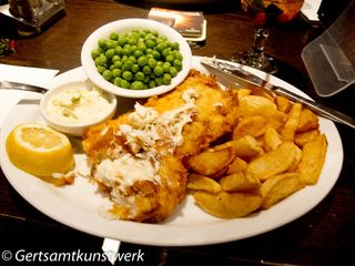Fish and chips pig and whistle