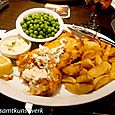 Fish and chips, Pig and Whistle
