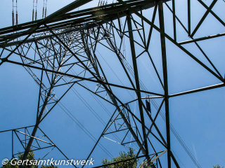 Underneath the pylon