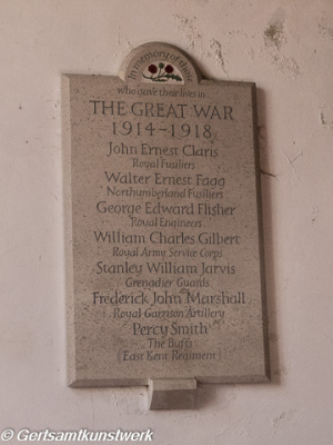 War memorial plaque