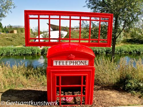 Telephone box sculpture