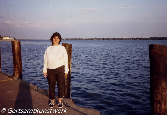 Me on the River above Niagara 1989
