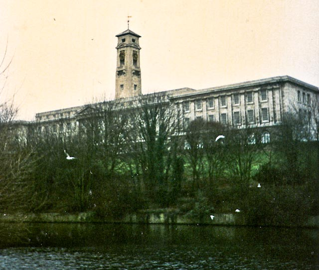 Trent Building and the lake