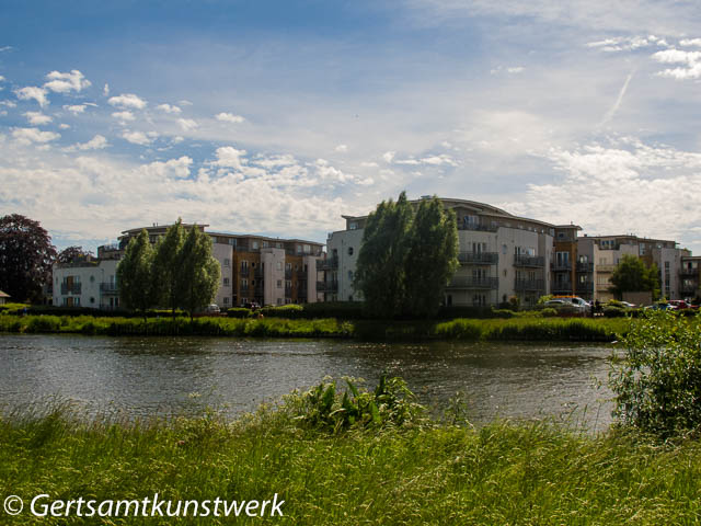 Flats on the river
