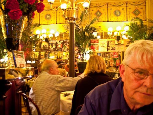 Jimmy in restaurant